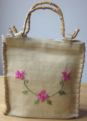 Embroidered Straw Tote Irisong Packaging